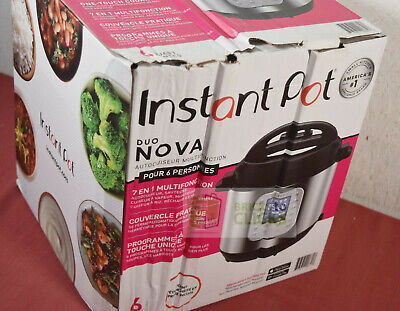 Instant Pot Duo Nova 6 quart 7-in-1 One-Touch- (New with Package Wear)