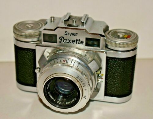 Braun Super Paxette, Rangefinder 35mm Camera Cassarit 45mm 2.8 Germany