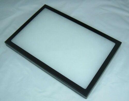 "one jewelry display case riker mount collectors display box show 8"" X 12"" X 7/8"""
