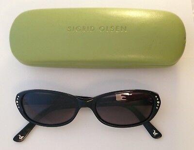 Sigrid Olsen Onyx Black SO209SA Sunglasses & (Olsen Sunglasses)