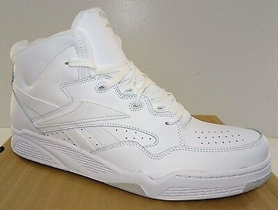 REEBOK BB4600 Mid Men's Basketball Shoes  White Leather  NWD