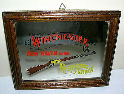 Vtg Winchester Repeating Arms #1894 Rifle Firearms Gun Advertising Mirror Small