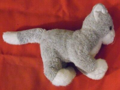 Steiff Katze , 32 cm x 17 cm x 10 cm , 50er Jahre  , mit Knopf im Ohr