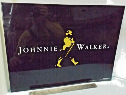 Large Man Cave BAR METAL JOHNNIE WALKER SCOTCH WHISKEY Advertising Sign Guc