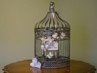Birdcage Card Holder (Wedding Shower Gift Card Holder Cage Metal Birdcage)