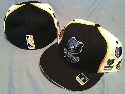Memphis Grizzlies Flat Brim Fitted Repeat Logo Size 8 Multi Color NBA Cap - Grizzlies Colors