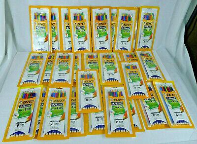Lot Bic Xtra-fun 240 Pencils 30 Packs 2 Non-toxic Break Resistant Lead Colors