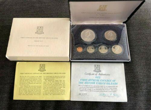 1973 BRITISH VIRGIN ISLANDS - 1st OFFICIAL PROOF SET -6 Coins  [A]