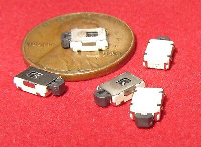 5 Pc - Small Smd Momentary Tactile Switches Push Button No Spst Click On Tiny Mv