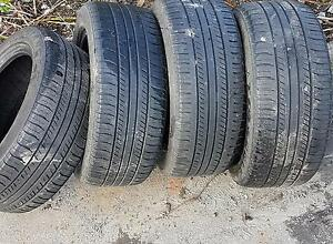 """4x 16"""" low pro tires with lots of life left in them $100/4 obo"""
