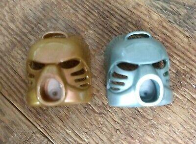Lot of 2 LEGO BIONICLE Kanohi Hau Masks Metallic Silver and Metallic Gold 32505