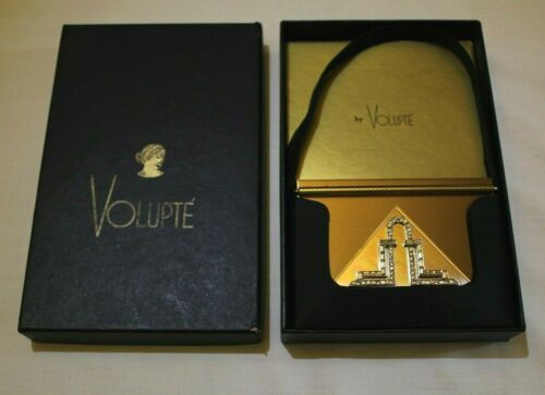 VOLUPTE SWINGLOK SOPHISTICASE RHINESTONE COMPACT/PURSE - LIPSTICK -COMB CARRYALL
