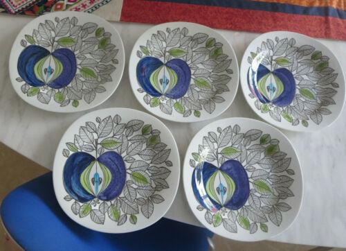 """5 Vintage Rorstrand Sweden Eden Salad Plates 8"""""""