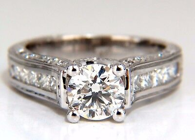 GIA Certied 2.47ct Round Diamond Ring I/VVs-1 Excellent 14kt Cathedral Ideal