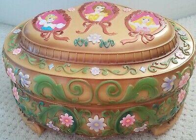 Disney Vintage Jewelry Box Ballerina 3 Snow Globe 1991 Princess Rare
