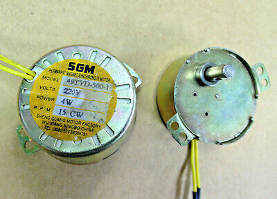 Sgm Synchronous Motor 220v 15 Rpm 4w- 7mm Shaft 49tyd-500-1