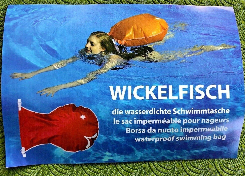 Schwimmsack Wickelfisch Original aus CH , gross: 28liter Volumen, unbenutzt