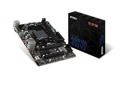 MSI A68HM-E33 V2 Socket FM2+ AMD A68H SATAIII 6Gb/s USB3.0 Micro-ATX Motherboard