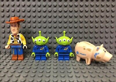 LEGO TOY STORY Minifig Lot 4 Trash Compactor Escape 7596 Woody Alien Hamm Stains