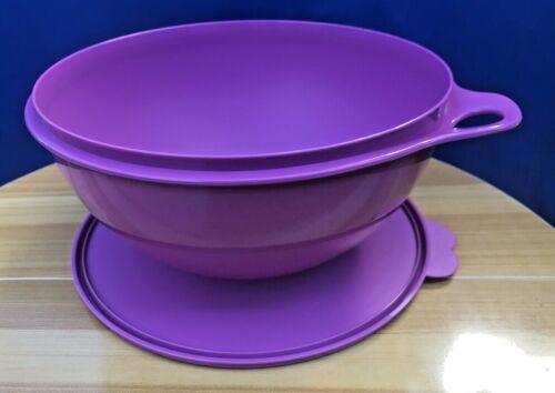 Tupperware Thatsa Bowls Mixing Purple 32,cup Same Color Seal  New!!!!