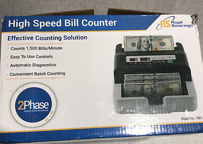 Royal Sovereign High Speed Money Counting Machine Rbc-100-2 Phase Detection.