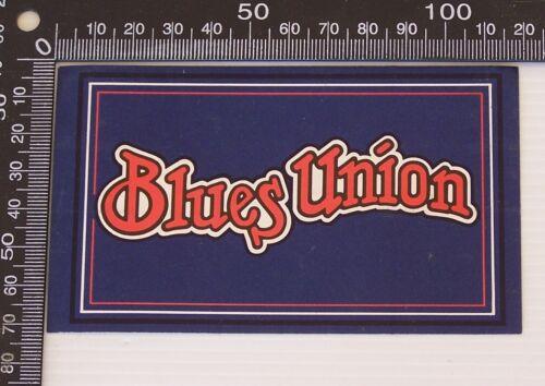 VINTAGE BLUES UNION JEANS AUSTRALIA SOUVENIR PROMO BUMPER STICKER DECAL