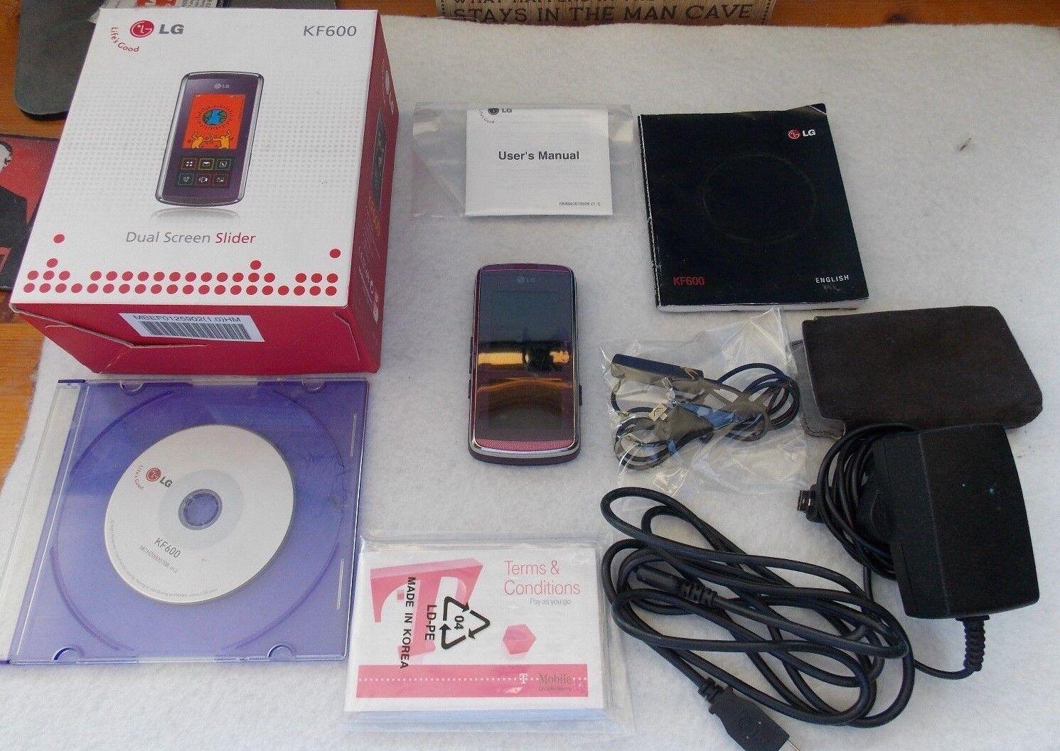 LG KF600 - Purple  Mobile Phone Booked Tmobile
