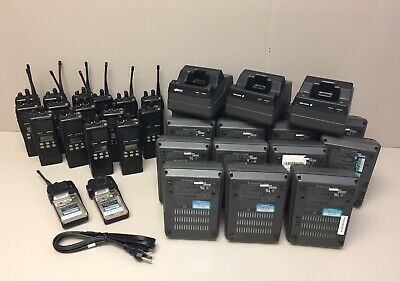 Lot Of Ericsson Ma Com Lpe-200 Radios Batteries Chargers And Power Cords