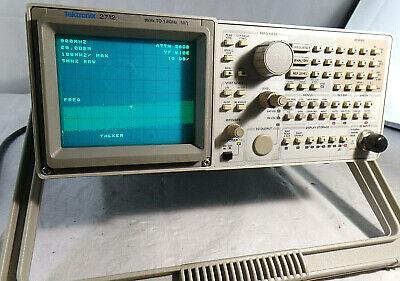 Tektronix 2712 Spectrum Analyzer 9khz-1.8 Ghzfor Partsrepair