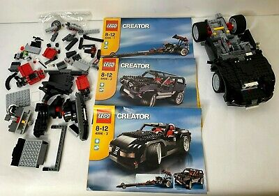 Lego Creator 4896 3in1 Roaring Roadster Dragster Used Manuals Pieces Incomplete