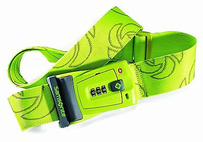Samsonite Luggage Travel Sentry 3 Dial Combination Strap, Neon Green, One Size