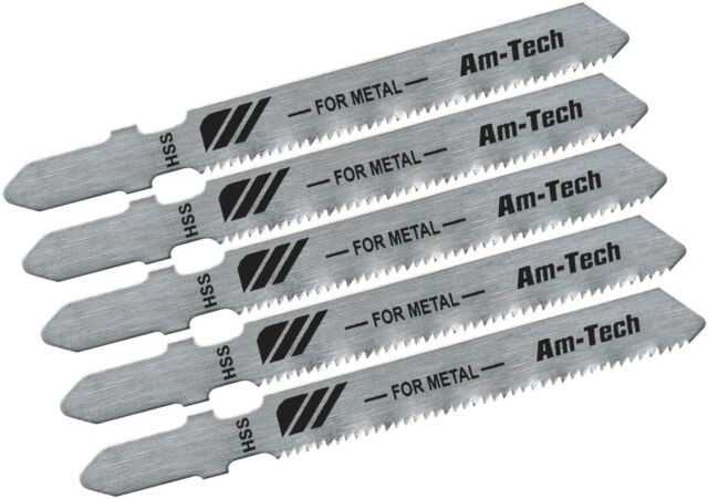 Am-Tech 5 Pcs Blade Jigsaw Blades Fits Bosch Makita Metal Cutting Jigsaw-M1605A