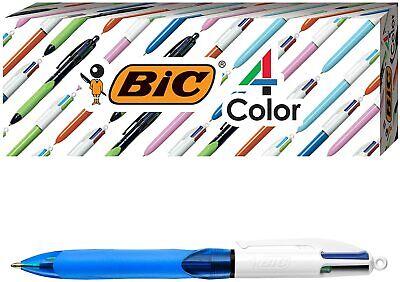 Bic 4 Color With Grip Ballpoint Pen Blue Barrel Medium Point 3 Pens