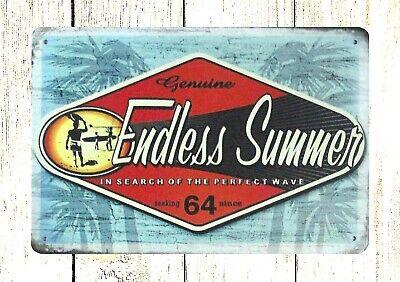 - US SELLER- home decor accents Endless Summer beach tin metal sign