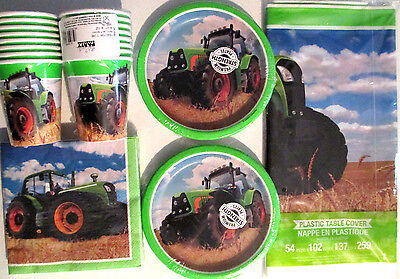 TRACTOR TIME John Deere Style Birthday Party Supply Kit for 16 - Tractor Birthday Supplies