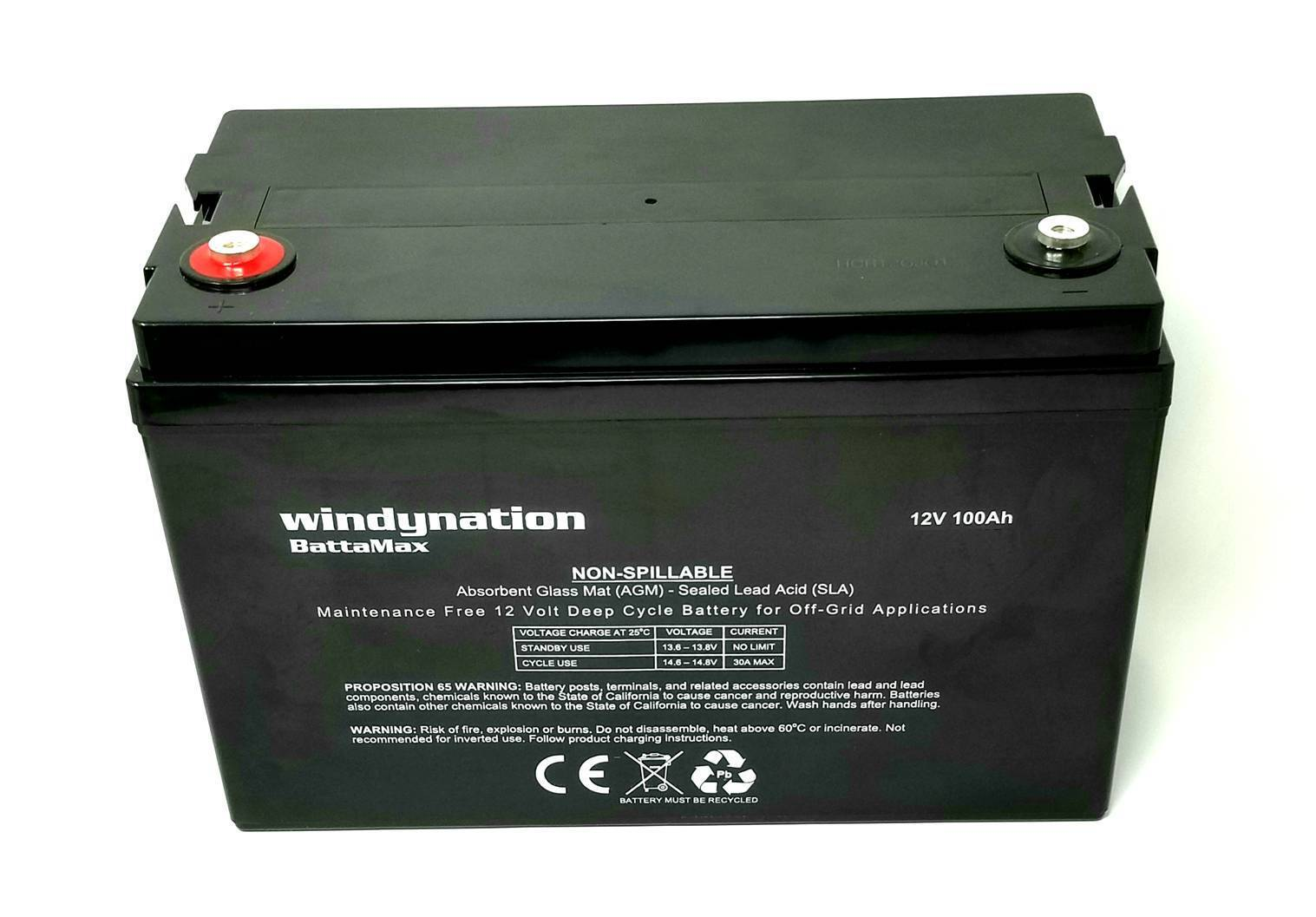 12V 100ah  Sealed AGM Deep Cycle AGM Battery Solar, RV, Off