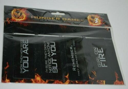 The Hunger Games set of 4 magnetic bookmarkers