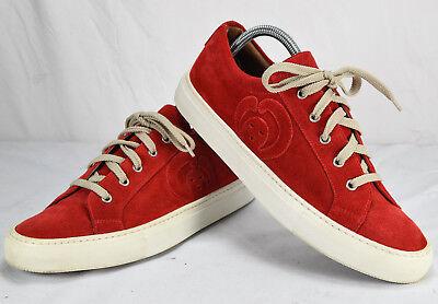 Men's Société Anonyme Red Suede Lace-up Leather Sneakers Sz 42 US Sz 9 Sold Out