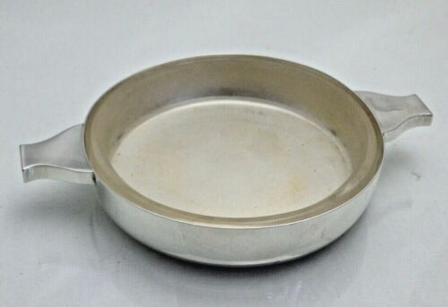 Vintage Solid Silver 2 Handled Quaich Dish with Glass Liner Whisky (1477/9/V0S)