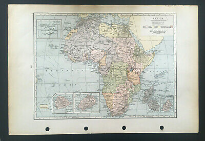 Map Of Africa  C1930 Antique Large