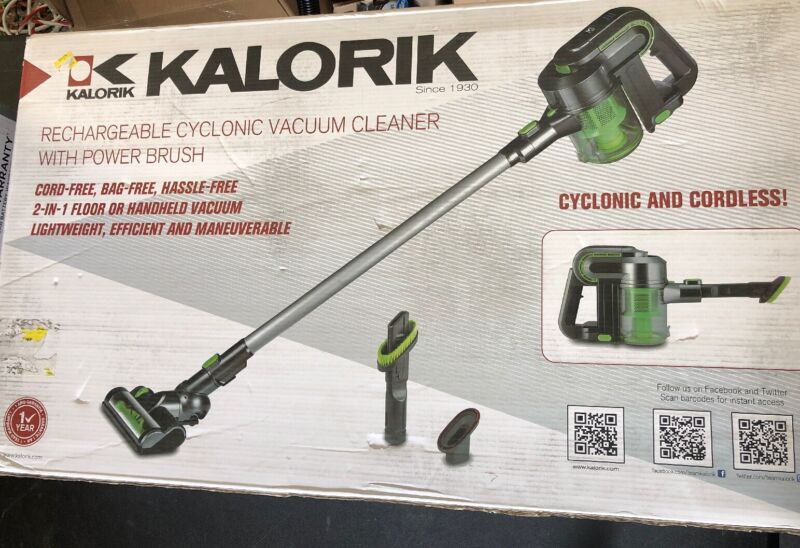 Kalorik Bagless Cordless Hand Vac Silver green VC 42475 L