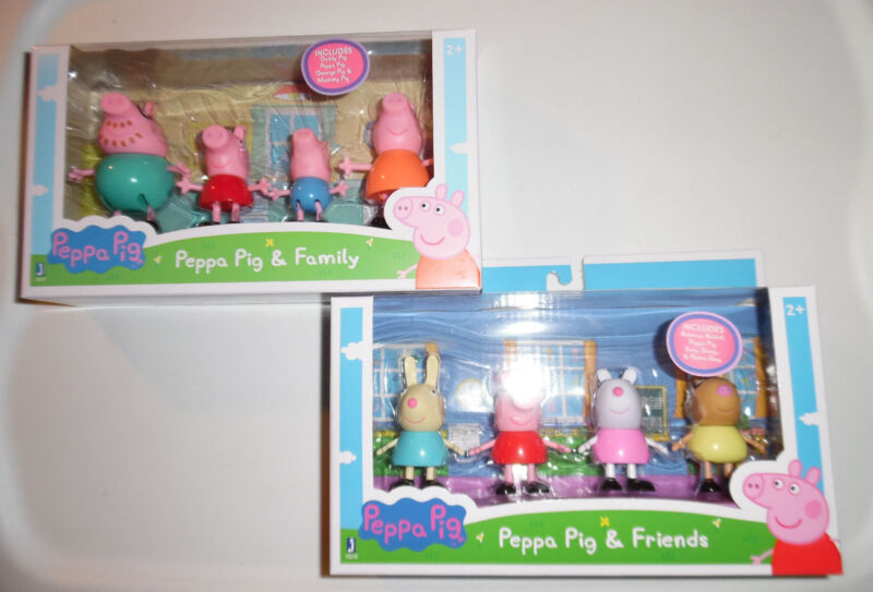Peppa Pig Friends & Family 8 Toy Figures Daddy George Mummy Rebecca Suzy Pedro