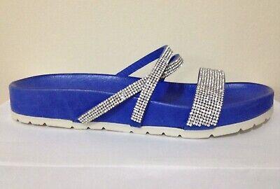 Ladies House Beach Shower Slip on Leather Sandals Strass Fashion EUR 37 UK 4