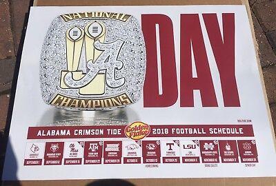 2018 Alabama Crimson Tide Football Schedule A Day Poster