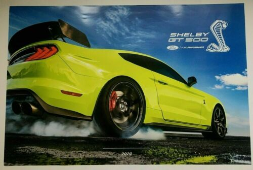 """BRAND NEW FORD MUSTANG SHELBY GT500 24"""" x 36"""" DEALER ONLY POSTER!"""