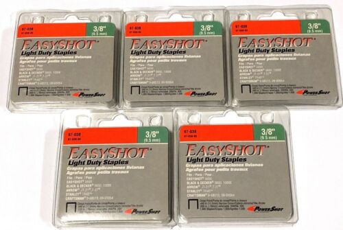 "5,000 PowerShot 3/8"" Light Duty Staples Fits Arrow Stanley Craftsman"