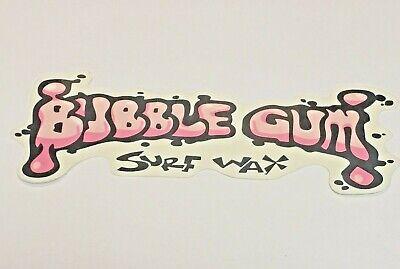 """Bubble Gum Surf Wax Skate Board Sticker, 7"""" x 3"""" Cool Colors, Rare Sticker"""