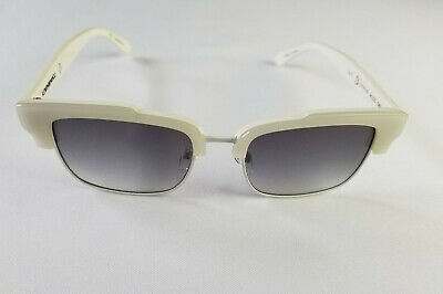 MIKLI BY ALAIN MIKLI ML1325 C002 WHITE UNISEX CLUBMASTER STYLE SUNGLASSES (White Clubmasters)