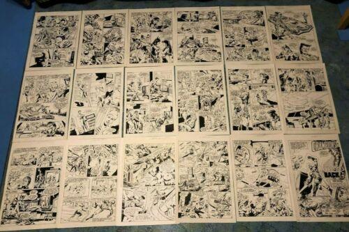 CHAMPIONS #4 original art COMPLETE 18 PG STORY Pulsar Icicle Foxbat 1987 EXO