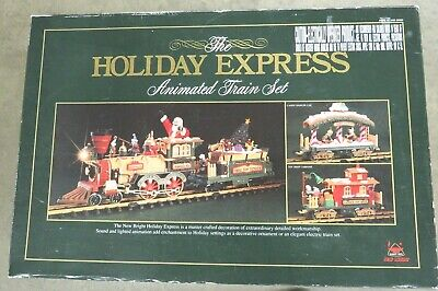1996 New Bright Christmas The HOLIDAY EXPRESS Animated G Scale Train Set # 380